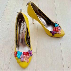 Poetic Licence eyeconic Yellow Flower Garden Heels
